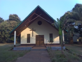 The chapel of the formation house in Bangui-Bimbo